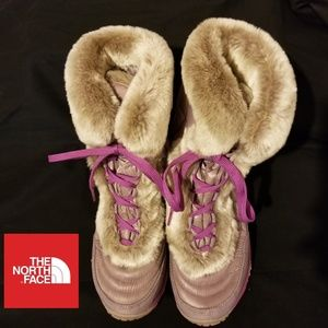 Girl's The North Face Nuptse Faux Fur Boots Sz 4